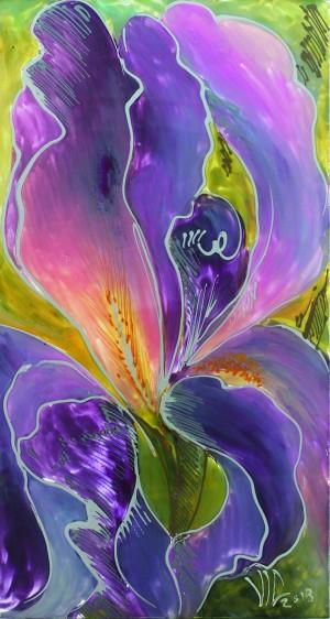 Polyptic with irises 3 by Vali Irina Ciobanu by vali irina ciobanu