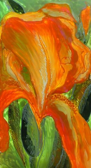 Polyptic with irises 2 by Vali Irina Ciobanu by vali irina ciobanu