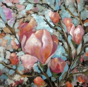 Pink magnolia by Vali Irina Ciobanu by vali irina ciobanu