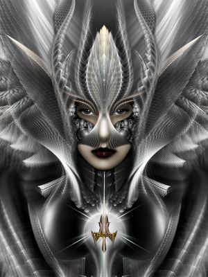 Arsencia The Setren Trim TanGS Fractal Portrait by xzendor7