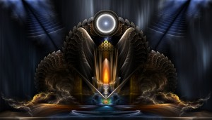 Cyritous, Temple Of The Orb Of Karinos Fractal Art by xzendor7
