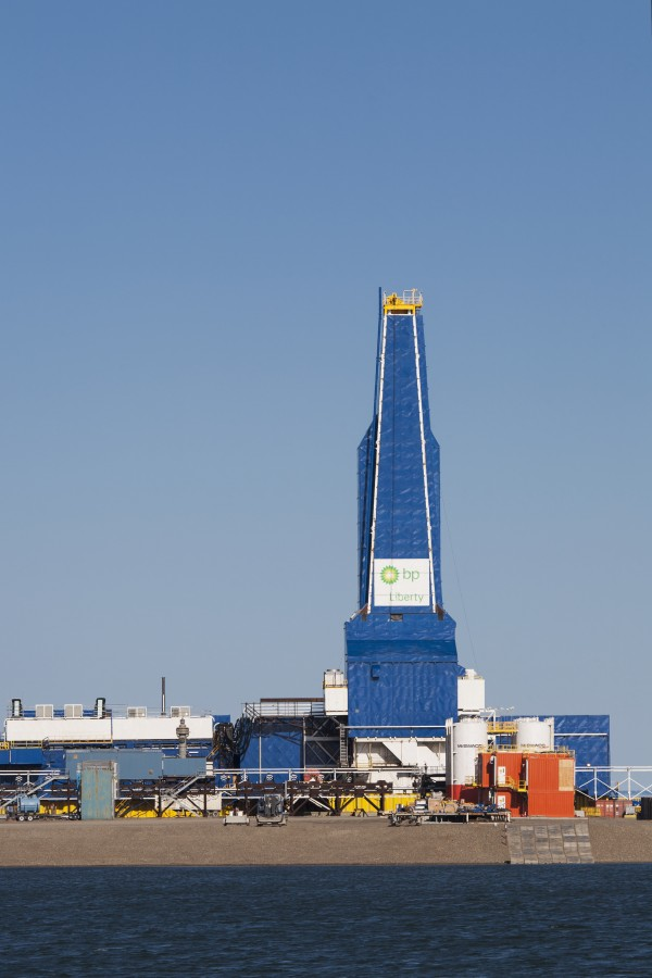 The Liberty Oil Rig In The Prudhoe Bay Oilfield On The