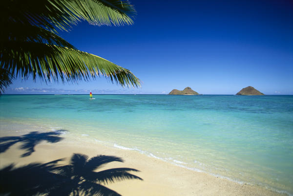 Hawaii Oahu Lanikai Beach Hobie Cat Sailing Near