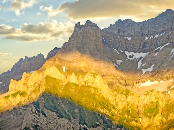 Golden Rays of the Sun Across the Swiss Alps Digital Download