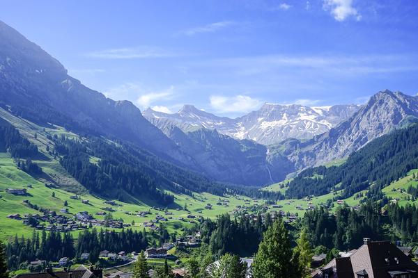 Blue Skies over the Alps in Adelboden Switzerland Digital Download