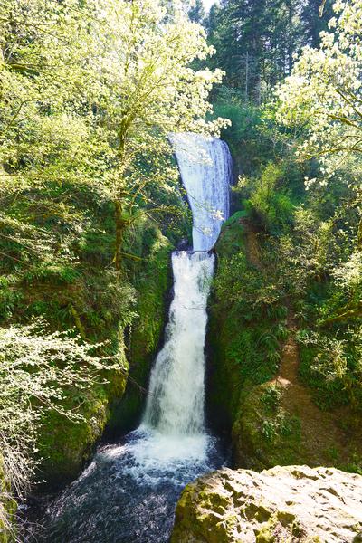 Falls in The Gorge 2   Columbia River Oregon Digital Download