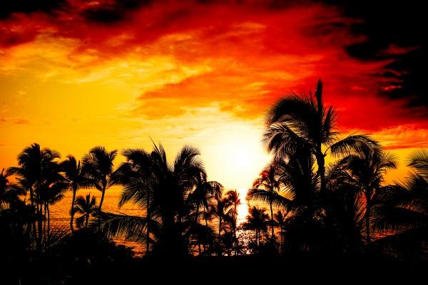 Fire in the Heavens - Sunset Hawaiian Islands Digital Download