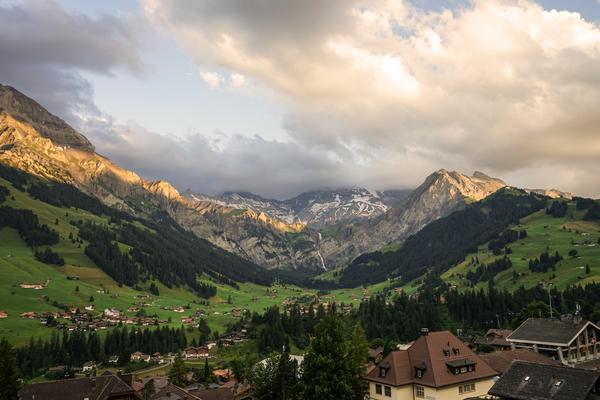 Golden Rays of the Sun Across the Mountains at Sunset in Switzerland 2 of 2 Digital Download