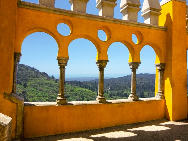 Shadows and Sunlight - Palace of Pena - Sintra Portugal Digital Download