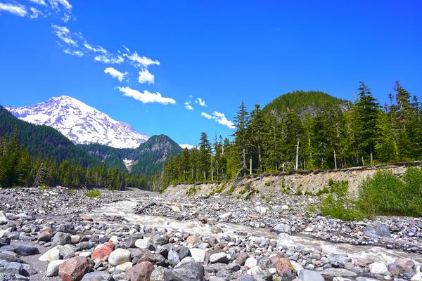 Spring Runoff Mount Rainier Pacific Northwest Washington State Digital Download