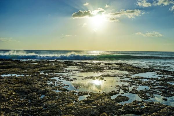 Waves Breaking on the Sea Shore   Hawaii Digital Download