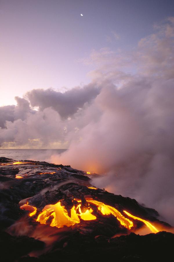 Hawaiian islands volcanoes national park