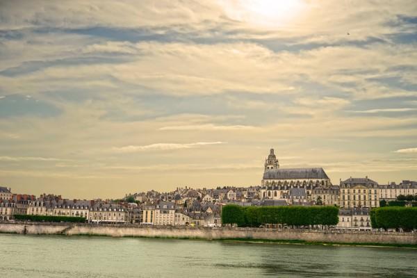 Cathedrale Saint Louis Across the Loire - Sunset France Digital Download