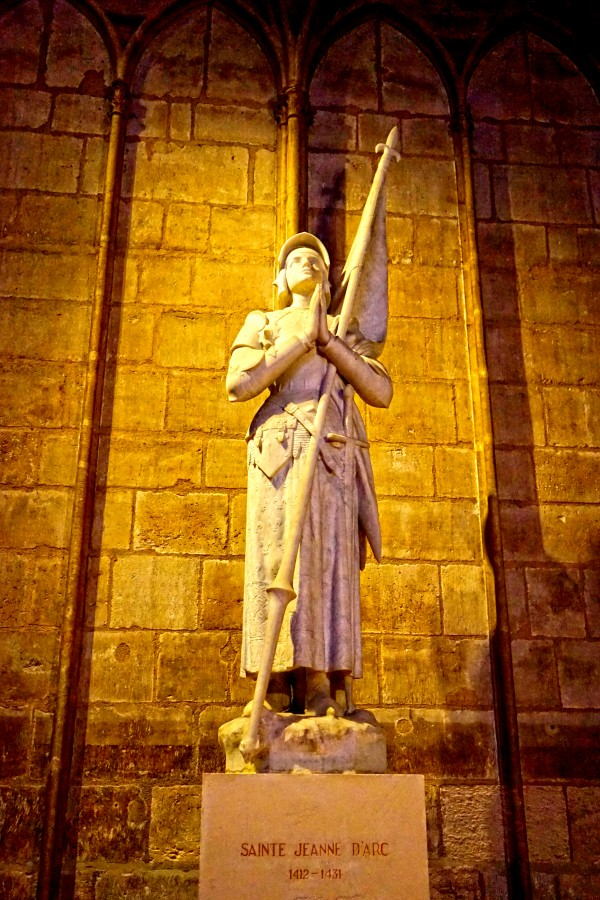 Jeanne d Arc and Saint Croix Cathedral at Orleans   France 4 of 7 Digital Download