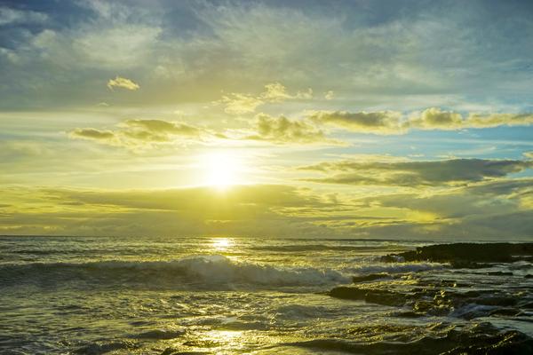 The Sun Sets at the Tidal Pools Hawaii Digital Download