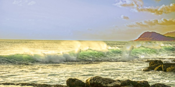 Spring Surge After the Storm Panorama Digital Download