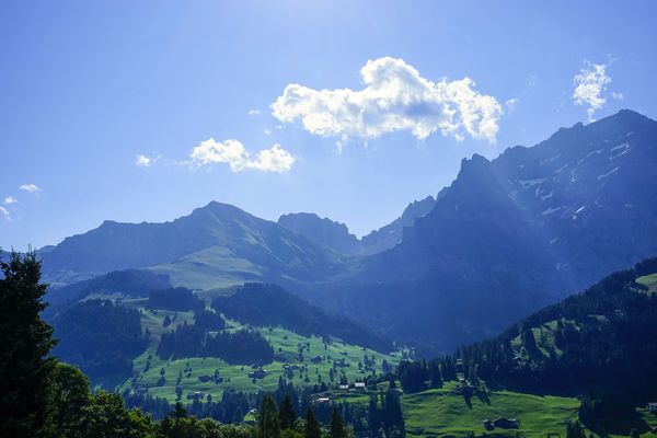 Beautiful Sun Draped Skies over the Alps in Switzerland by 360 Studios
