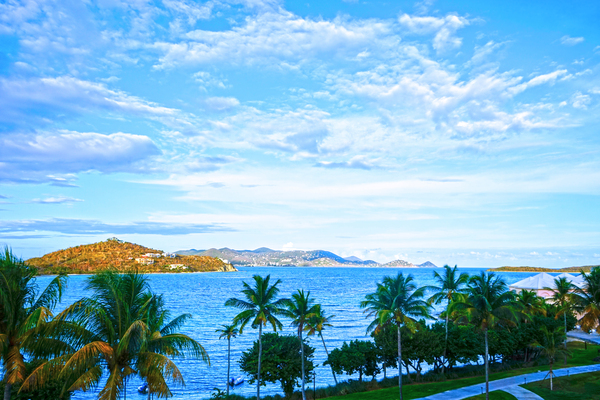 Beautiful View to St John from St Thomas Caribbean Islands by 360 Studios