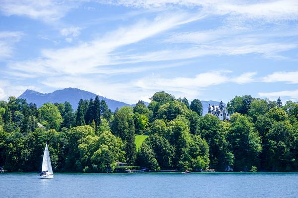 Blue Skies - Sailing Lake Lucerne in Switzerland by 360 Studios