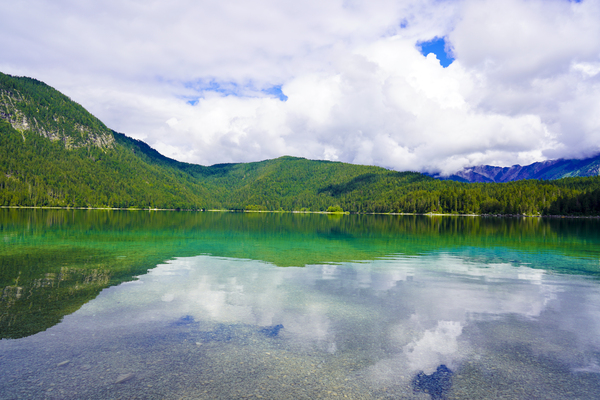 Crystal Clear Waters of Lake Eibsee in the Bavarian Alps near Garmisch Partenkirchen by 360 Studios