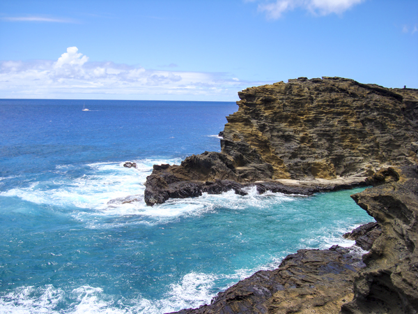Dazzling Blue   Halona Cove Oahu Hawaii by 360 Studios