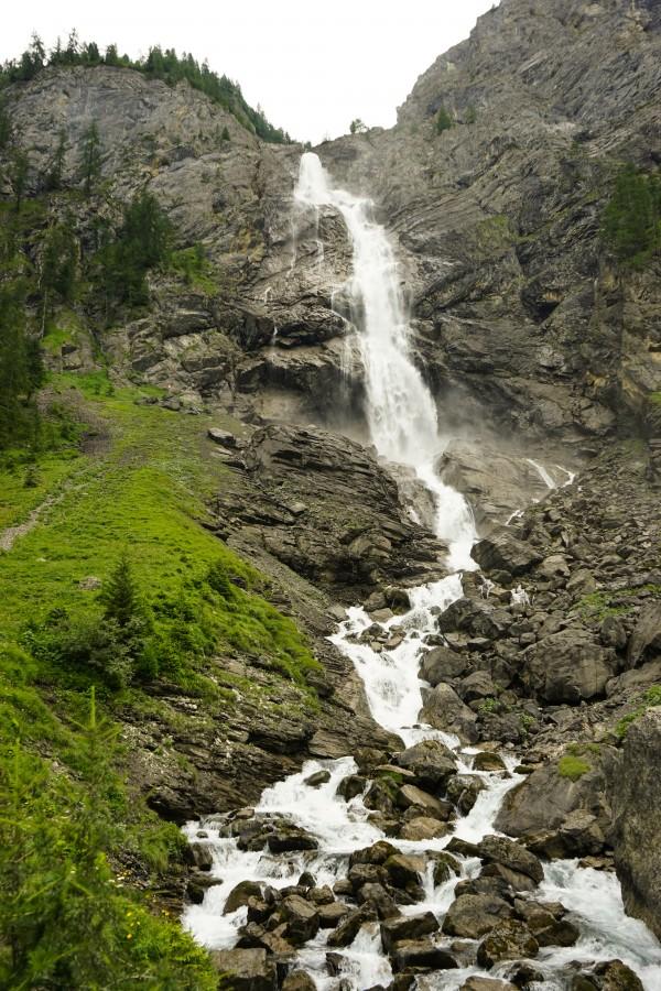 Engstligen Double Water Fall Adelboden Switzerland in the Bernese Highlands by 360 Studios
