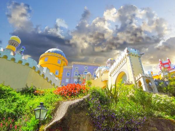 Fairy Tale Palace   Palacio Nacional da Pena   National Palace of Pena   Sintra Portugal by 360 Studios
