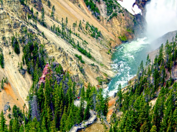 Mighty Yellowstone 3 - Grand Canyon of the Yellowstone River - Yellowstone National Park Digital Download