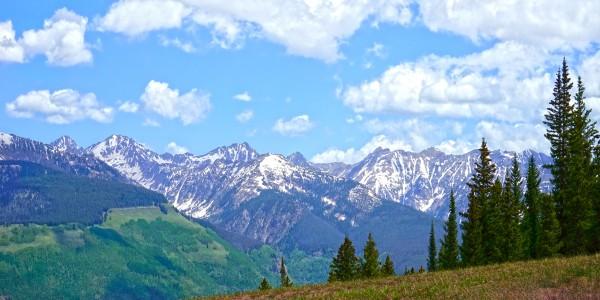 Rocky Mountain High Colorado Panorama  Digital Download