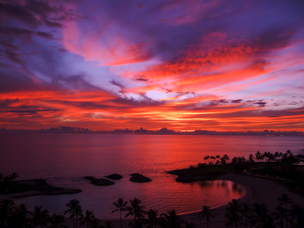 Euphoria Before Bliss - 2013 ARTWORK OF THE YEAR WINNER - Pink and Orange Kissed Skies over Hawaii at Sunset Digital Download