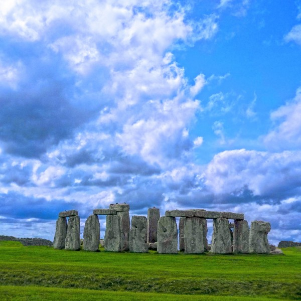Stonehenge Prehistoric Monument on Salisbury Plain in Wiltshire England   Square by 360 Studios