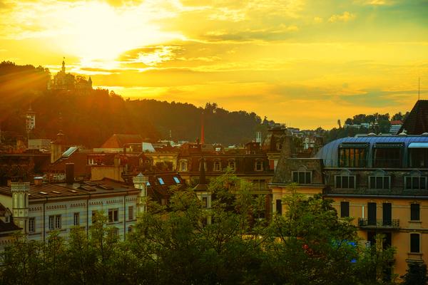 Summer Sunset over Lucerne Switzerland Digital Download