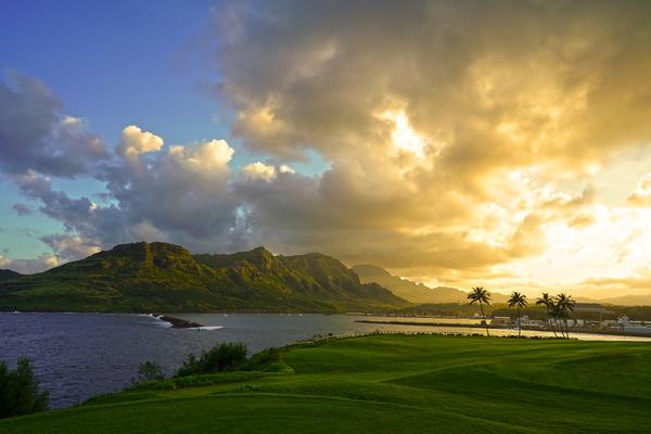 Sunset Nawiliwili Bay Kauai Hawaii Digital Download