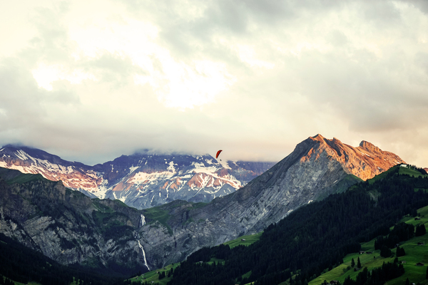 Sunset in the Mountains of Switzerland by 360 Studios