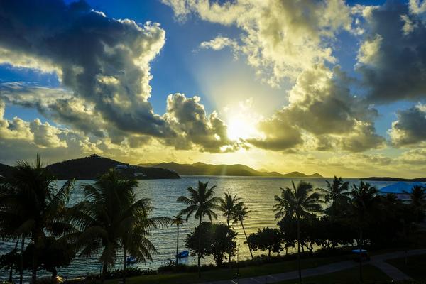 Sunset over Great Bay Saint Thomas US Virgin Islands by 360 Studios