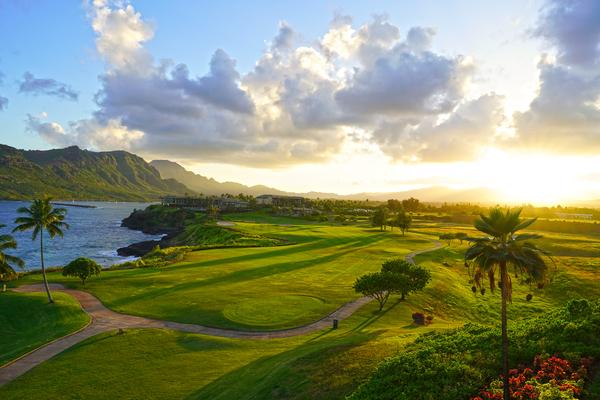Sunset over Kukii Point on the Island of Kauai in Hawaii Digital Download