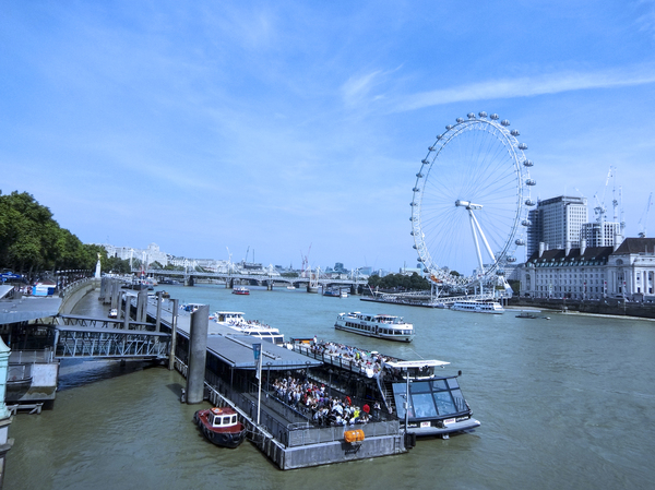 On The River Thames in London United Kingdom by 360 Studios