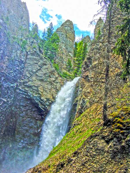 Vintage Tower Fall at Yellowstone National Park Wyoming by 360 Studios