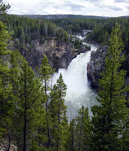 Vintage Upper Yellowstone Falls Wyoming by 360 Studios