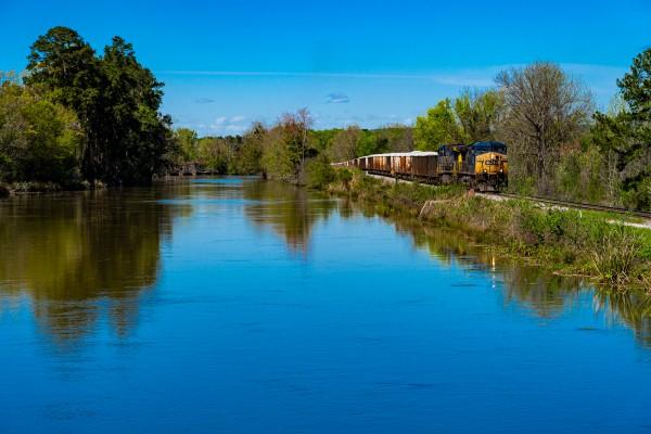 CSX Train along the Augusta Canal GA 02899 by @ThePhotourist