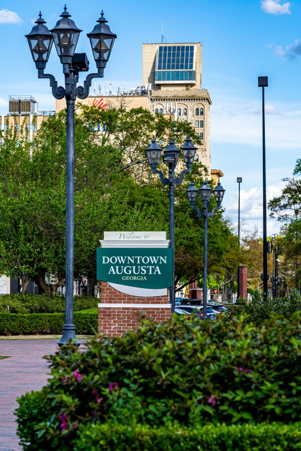 Downtown Augusta Georgia Sign 03011 by @ThePhotourist