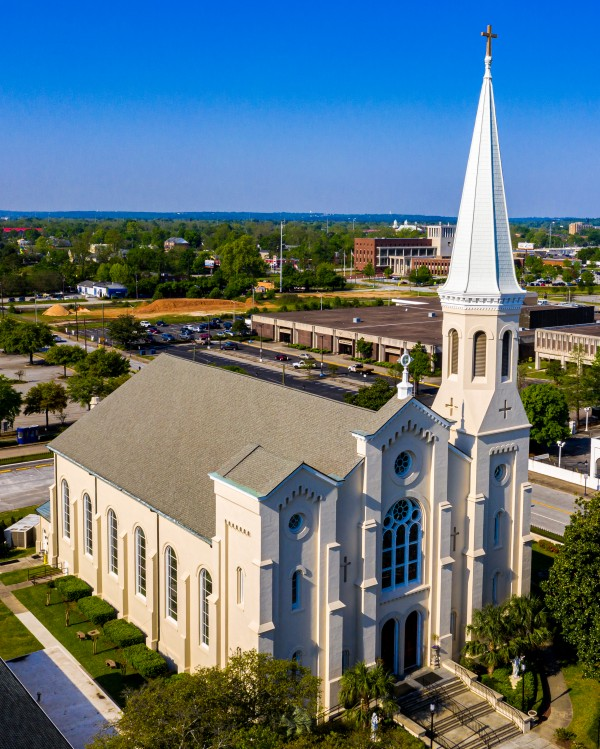 The Most Holy Trinity Catholic Church Aerial View Augusta GA 0718 by @ThePhotourist