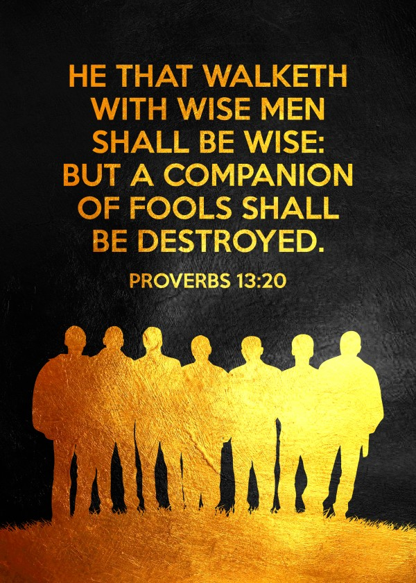 Proverbs 13:20 Bible Verse Wall Art Digital Download