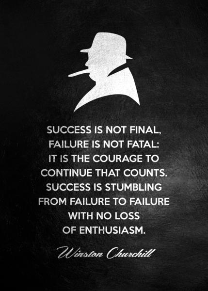 Winston Churchill Motivational Wall Art Digital Download