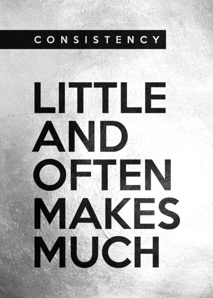 little and often Motivational Wall Art Digital Download