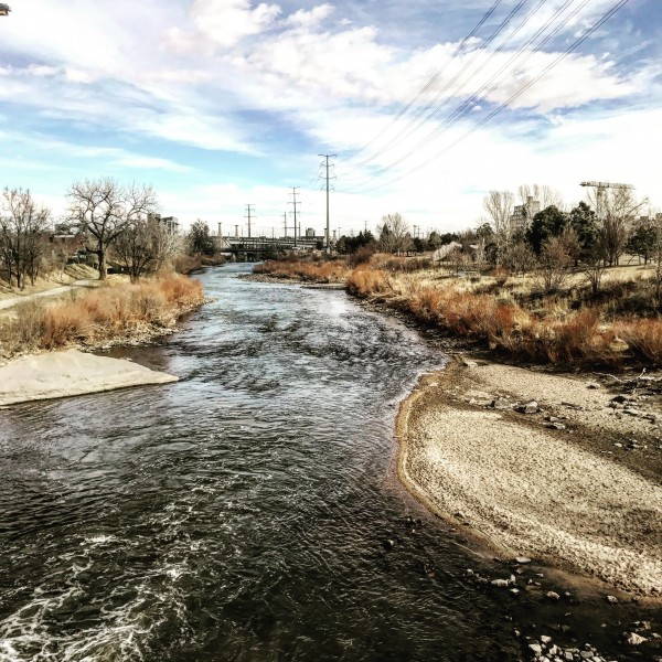 City River in Denver by AEDIFICO Prints