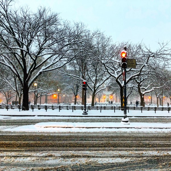Snowy DuPont Circle by AEDIFICO Prints