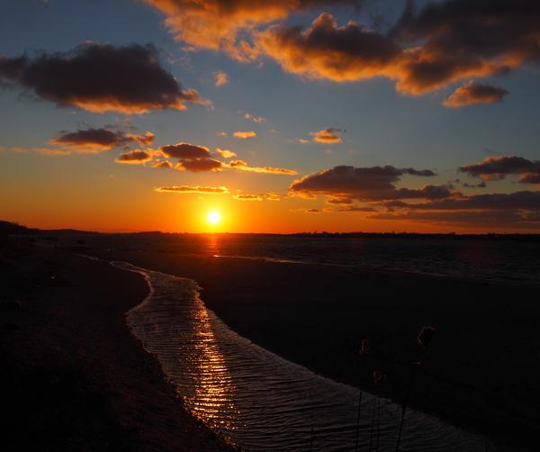 sunset in dec by Adam M Bundy