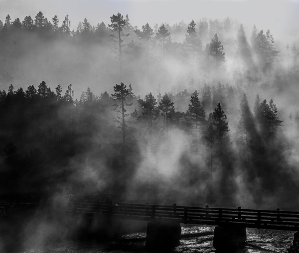 Smoke in Yellowstone  by Adventure Photography