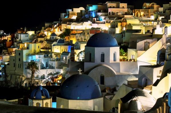 Landscape -  beautiful Santorini By Nigth by Bentivoglio Photography